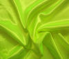 Neon-yellow~green Heavy Satin Fabric Water Resistant