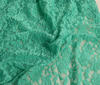 Mint Bi-Stretch Lace Fabric Floral Pattern