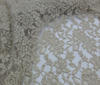 Champagne Bi-Stretch Lace Fabric Floral Pattern