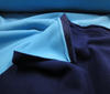 Turquoise ~ Dark Blue Doubleface Polar Fleece Antipilling fabric
