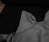 Black ~ Light Grey Doubleface Polar Fleece Antipilling fabric