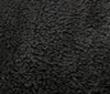 black PLUSH FUR FABRIC CURL FAUX FUR