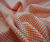 Orange Patchwork Cotton Fabric Vichy 2mm