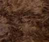 chocolate brown LONG HAIR TEDDY BEAR FUR FABRIC
