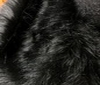 black Teddy Long hair Fur Fabric Faux Fur