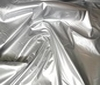 silver High Quality Patent Leather Fabric