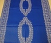 blue ~ white Patchwork Oriental-Look Cotton Fabric