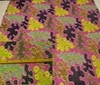 pink Patchwork Water Animals Cotton Fabric