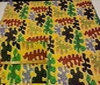 yellow Patchwork Water Animals Cotton Fabric
