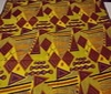 yellow ~ dark brown Patchwork Coloured Printed Cotton Fabric