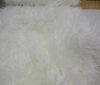 snow white Extremely Long Shaggy Mongonlian Fur Fabric