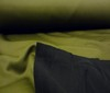 olive ~ black Neoprene ~ Funcitonal Fleece Doubleface fabric