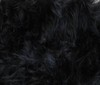 black Soft Cuddle Teddy Long Hair Fabric