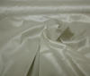 Creme-Silver Nylon Fabric Stretch Coated Waterproof