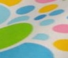 multi coloured ~ white Circular Design Cotton Fabric Patchwork