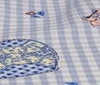 babyblue ~ white Cotton Fabric ~ Tartan Children Patchwork