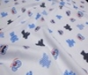 baby blue ~ white Cotton Fabric ~ Tartan Children Patchwork