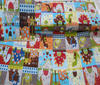 Multi-coloured Patchwork Cotton Fabric