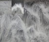 Grey ~ White Shaggy fake fur arctic wolf 7cm fabric