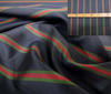 Green ~ Black ~ White High Quality Striped Silk fabric