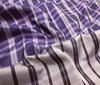 lilac ~ purple ~ white High Quality Silk Check pattern fabric