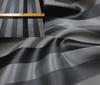 black ~ gray High Quality Italian Silk Block Stripes fabric
