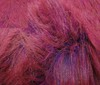 pink ~ blue mélange Fluffy Long Hair Woven Fur Imitation fabric