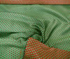 Red ~ Green High Quality Silk Stars Design fabric