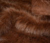 auburn Squirrel fur longhair faux fur fabric