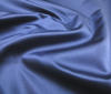Dark Blue High Quality Silk Unicoloured Structur fabric