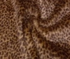 dark brown Short Hair Cuddle Leopard Imitation Fur fabric