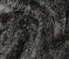 black Hairy Shaggy Fur Fabric Stretch 12mm