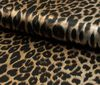 Black ~; beige printed satin fabric leopard Animal Print