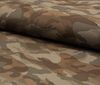Brown High quality cotton PU leather fabric camouflage