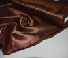 Chocolate-brown Heavy Satin  Fabric