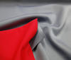 grey ~ red Doubleface Stretch Neoprene Fabric