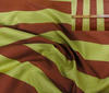 Red-Brown ~ Green High Quality Silk Block Stripes fabric