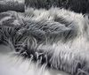white Flokati Longhair fur fabric